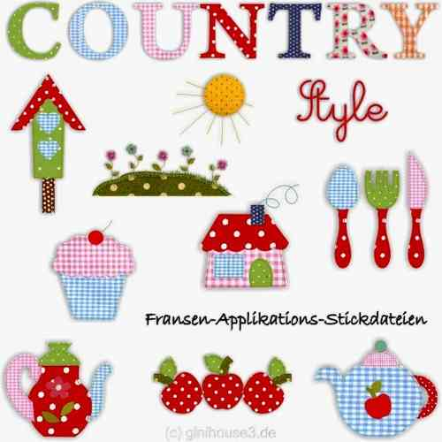 Stickdatei country style