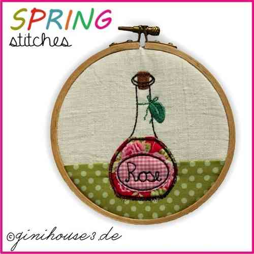 SPRING stitches 13x13 Stickdatei BLOCK