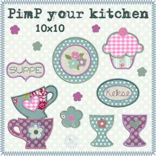 Pimp your kitchen Stickdateien 10x10