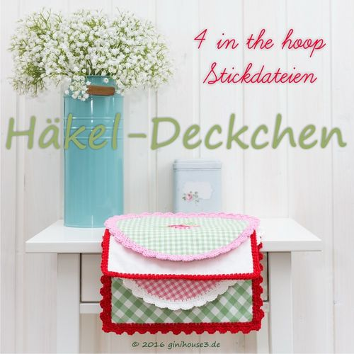 Stickdatei * Häkel-Deckchen * IN THE HOOP