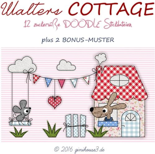 Stickdatei DOODLES * WalterS Cottage * 13x18