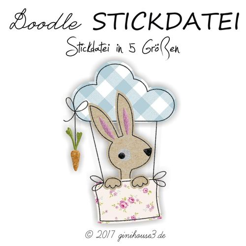 Stickdatei * flying RABBIT * ab 13x18