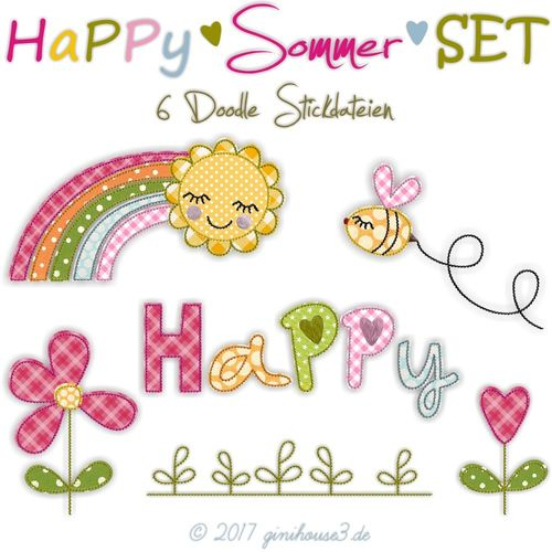 Stickdatei HaPPy Sommer SET