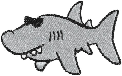 Stickdatei Hai / Shark