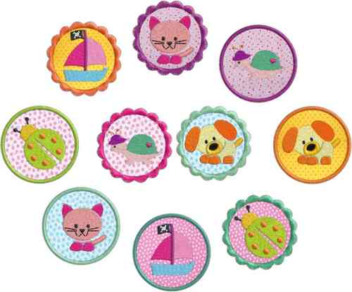 "Stickdatei Serie ""Sommer Buttons Set 1"""