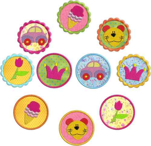 "Stickdatei Serie ""Sommer Buttons Set 2"""
