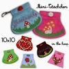 IN THE HOOP ✿ Mini-Taschen ✿ Stickdateien-Set ITH