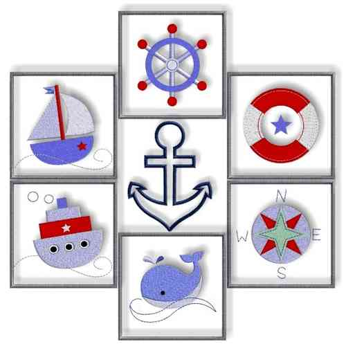 Stickdatei-Serie * NAUTICAL BUTTONS *