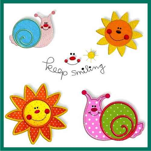 keep smiling - Schnecke & Sonne - SET