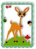 Stickdatei little DEER - Label - Applikation