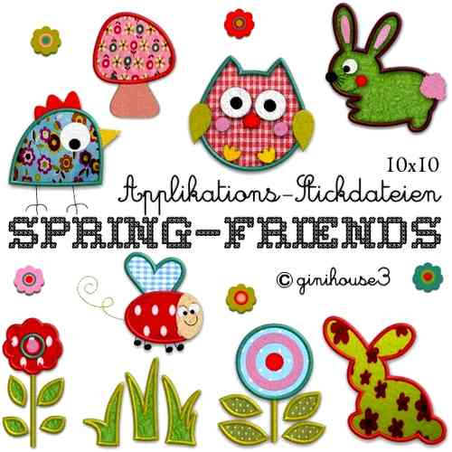 ✿ SPRING - FRIENDS ✿ Applikationen