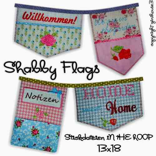 ★ shabby FLAGS ★ in the hoop Stickdateien