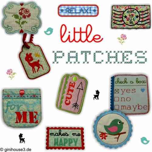 ♥ little PATCHES ♥ Stickdateien IN THE HOOP