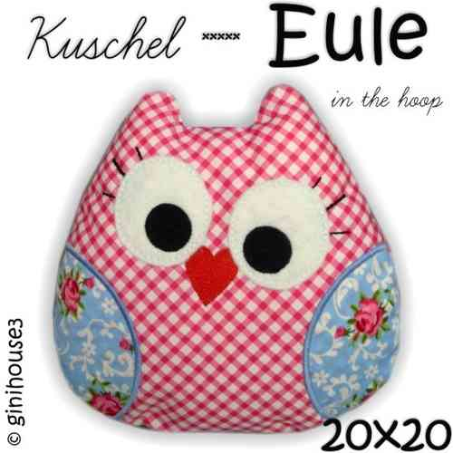 Kuschel - EULE ✿ Stickdatei IN THE HOOP