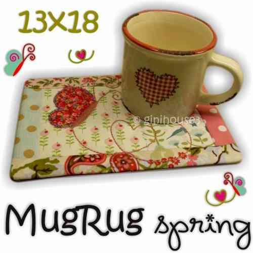 MugRug SPRING 13x18 IN THE HOOP Stickdatei