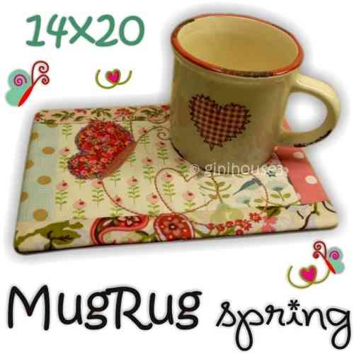 MugRug SPRING 14x20 IN THE HOOP Stickdatei