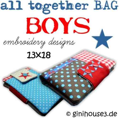 all together BAG ★ BOYS ★ 13x18