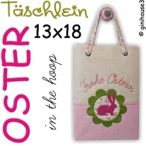 OSTER - Tasche ❤ in the hoop Stickdatei 13x18