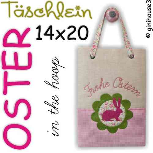 OSTER - Tasche ❤ in the hoop Stickdatei 14x20