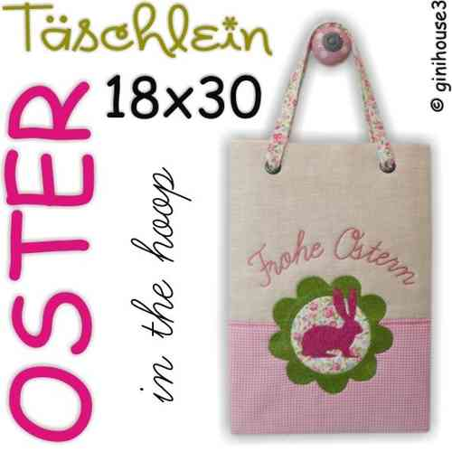 OSTER - Tasche ❤ in the hoop Stickdatei 18x30