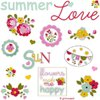 ♥ summer LOVE ♥ Stickdateien 10x10