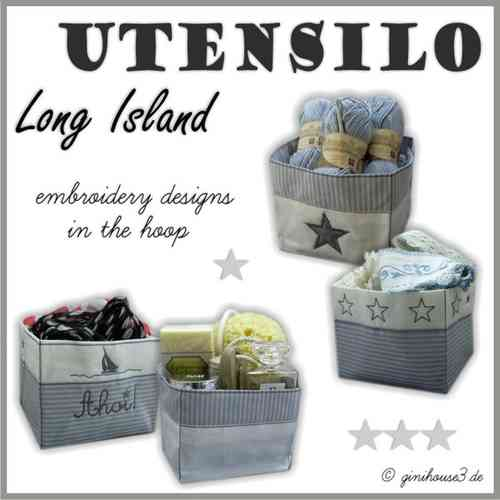 ✰ Long Island UTENSILO ✰ Stickdateien IN THE HOOP ✰