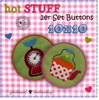 hot STUFF Stickdateien-Button-Set 10x10