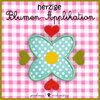 Herz-Blume Applikation Stickdatei 10x10
