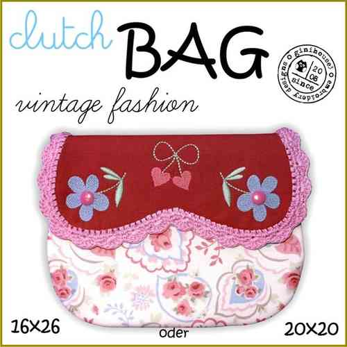 ❤ clutch BAG ❤ 16x26 oder 20x20 Stickdatei ITH