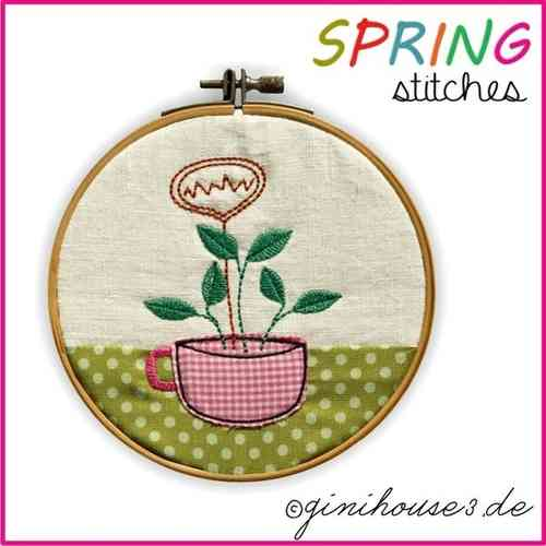 SPRING stitches 14x14 Stickdatei BLOCK