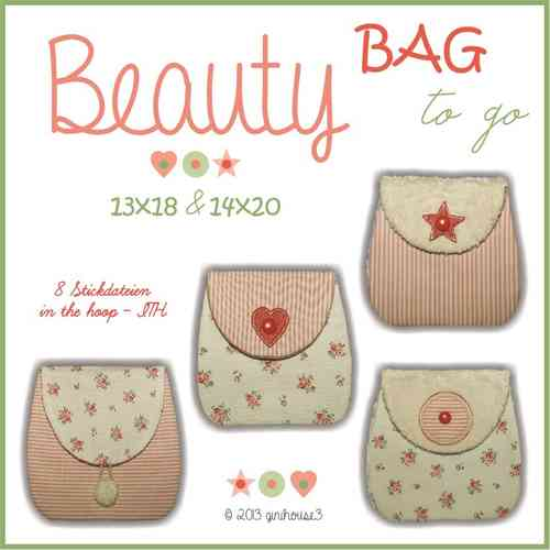 Stickdatei Beauty BAG to go ITH 13x18 und 14x20