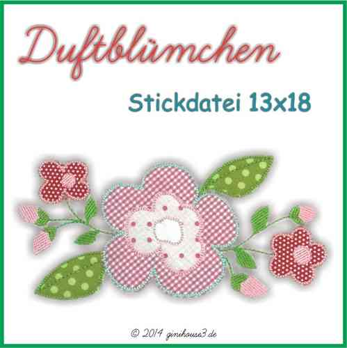 Stickdatei Blumen-Applikation 13x18