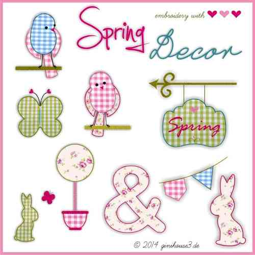 Stickdatei ♥ SpringDecor ♥ Applikationen zum Sticken