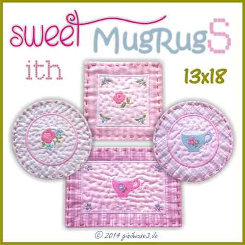 Stickdatei * SWEET MugRugS * 13x18 * ITH
