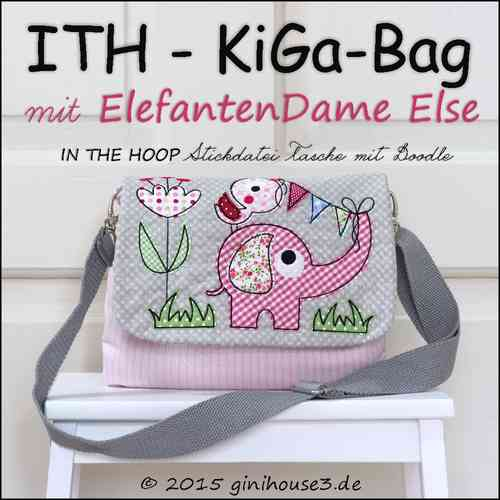 ITH * Stickdatei KiGa TASCHE mit little STORY Else