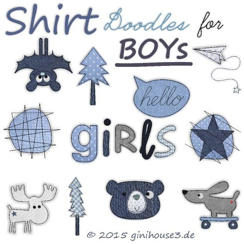 Stickdatei * DoodleS * T-Shirt-DESIGNS * 10x10