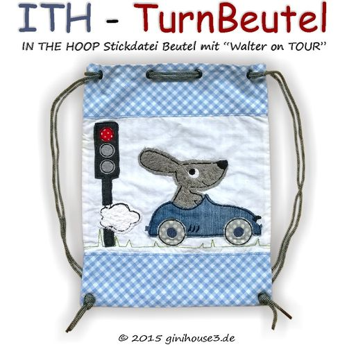 ITH * Stickdatei TURNBEUTEL mit little STORY