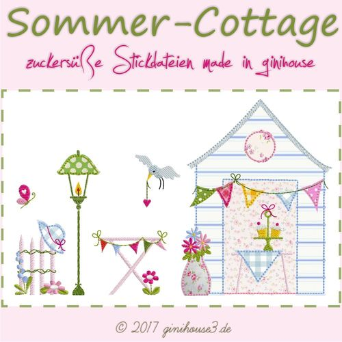 Stickdatei SOMMER-COTTAGE 13x18