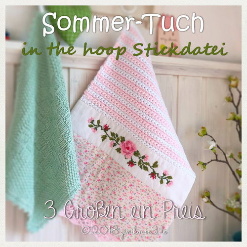 Stickdatei ITH Sommer-Tuch