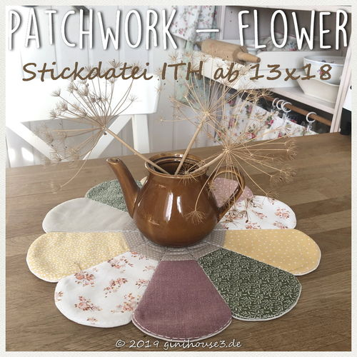 Stickdatei ITH Patchwork FLOWER