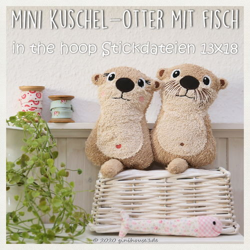 ITH Stickdatei MINI Otter 13x18